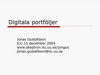 Digitala portf ljer
