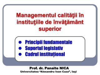 Managementul calitatii  n institutiile de  nvatam nt superior