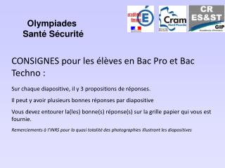 Olympiades  Sant  S curit