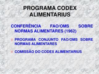 PROGRAMA CODEX ALIMENTARIUS