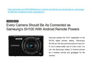Every Camera Should Be As Connected as Samsung???s SH100