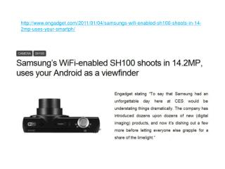 Samsung???s WiFi-enabled SH100 shoots in 14.2MP