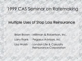 1999 CAS Seminar on Ratemaking