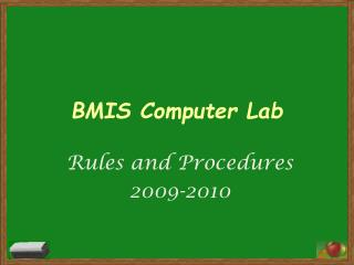 BMIS Computer Lab