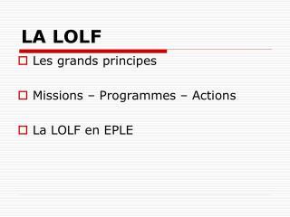 LA LOLF