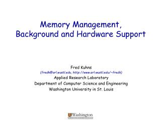 Memory Management, Background and Hardware Support