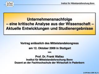 Unternehmensnachfolge    eine kritische Analyse aus der Wissenschaft   Aktuelle Entwicklungen und Studienergebnisse