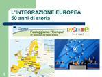 L INTEGRAZIONE EUROPEA 50 anni di storia