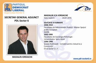 SECRETAR GENERAL ADJUNCT PDL Sector 6