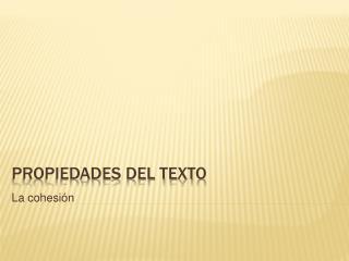 Propiedades del texto