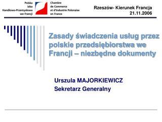 Zasady swiadczenia uslug przez polskie przedsiebiorstwa we Francji   niezbedne dokumenty