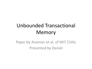 Lock-free programming and transactional memory