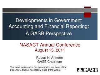 NASACT Annual Conference August 15, 2011