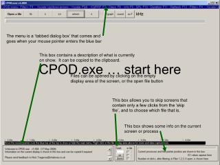 CPOD.exe   start here