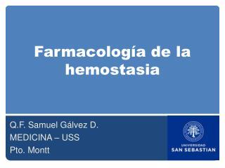 Farmacolog a de la hemostasia