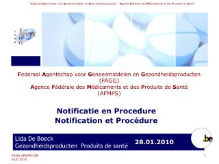 Notificatie en Procedure Notification et Proc dure