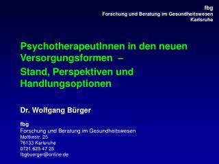 Fbg   Forschung und Beratung im Gesundheitswesen Karlsruhe