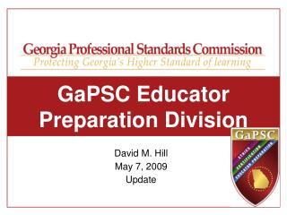 GaPSC Educator Preparation Division