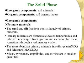 The Solid Phase