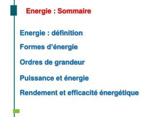 Energie : d finition