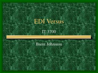 EDI Versus