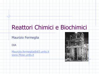 Reattori Chimici e Biochimici