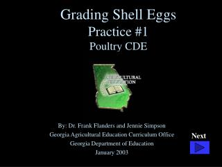 Grading Shell Eggs Practice 1 Poultry CDE