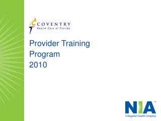Provider Training  Program 2010
