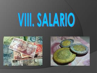 VIII. SALARIO