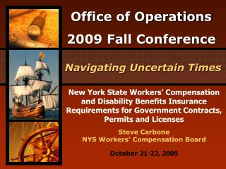 New York State Workers  Compensation and Disability Benefits Insurance Requirements for Government Contracts, Permits an