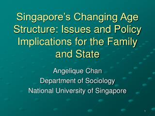 Singapore s Changing Age Structure: Issues and Policy Implications for the Family and State