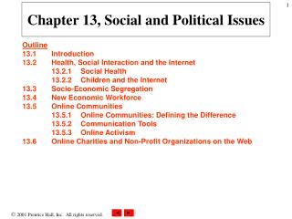 Chapter 13, Social and Political Issues