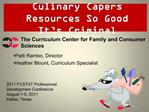 Culinary Capers  Resources So Good It s Criminal