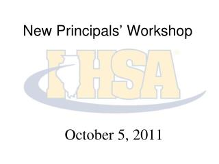 New Principals  Workshop