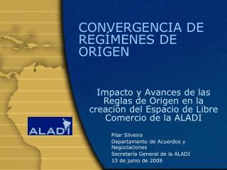 CONVERGENCIA DE REG MENES DE ORIGEN