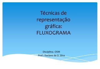 T cnicas de representa  o gr fica:  FLUXOGRAMA