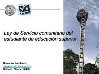 Ley de Servicio comunitario del  estudiante de educaci n superior