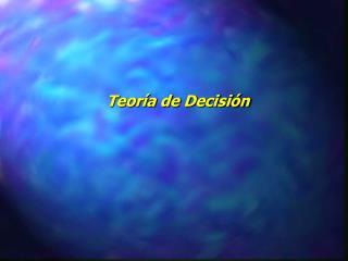 Teor a de Decisi n