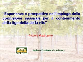 Gestione e Progettazione in Agricoltura