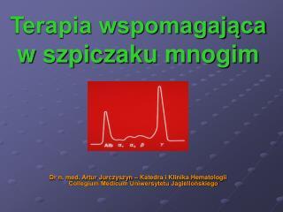 Terapia wspomagajaca              w szpiczaku mnogim          Dr n. med. Artur Jurczyszyn   Katedra i Klinika Hematologi