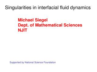 Singularities in interfacial fluid dynamics