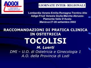 GIORNATE INTER- REGIONALI