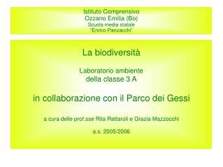 Istituto Comprensivo Ozzano Emilia Bo Scuola media statale   Enrico Panzacchi