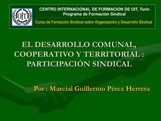 EL DESARROLLO COMUNAL, COOPERATIVO Y TERRITORIAL : PARTICIPACI N SINDICAL