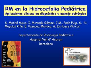 S. Mech  Meca, I. Miranda G mez, J.M., Poch Puig, S,  N. Mayolas Rif , E. V zquez M ndez, G. Enr quez C vicos  Departame