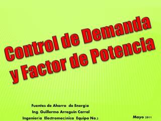 Control de Demanda y Factor de Potencia