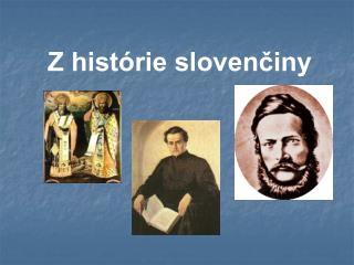 Z hist rie slovenciny