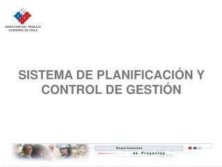 SISTEMA DE PLANIFICACI N Y CONTROL DE GESTI N
