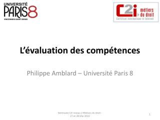 L  valuation des comp tences