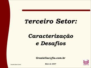 Terceiro Setor:  Caracteriza  o e Desafios   Graziellacfia.br  Maio de 2007